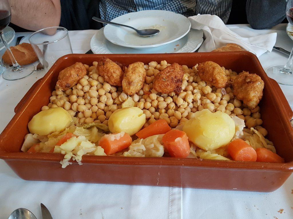 segundo vuelco cocido madrileño
