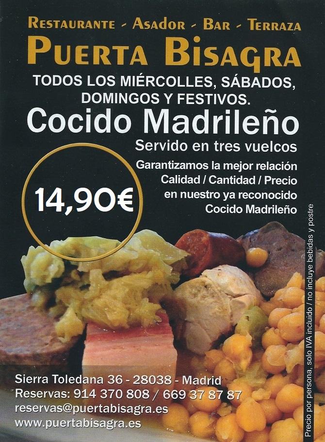 cocido madrileño 15 euros