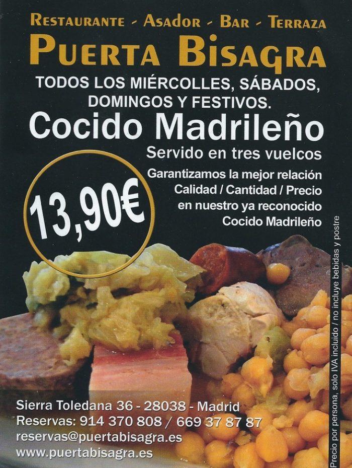 cocido madrileño 14 euros